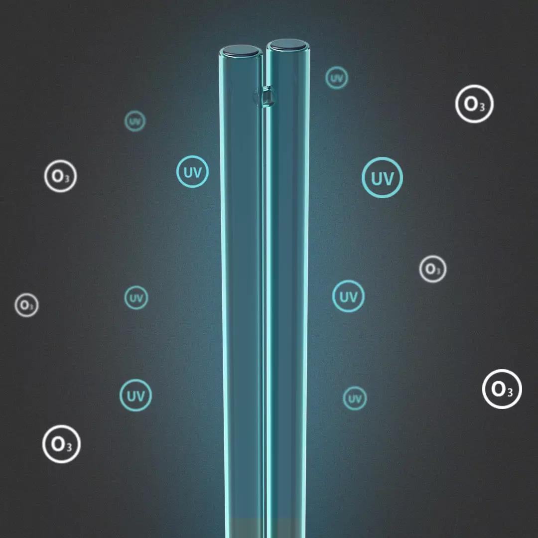 华艺大功率家用消毒杀菌灯 紫外线臭氧杀菌灯38W